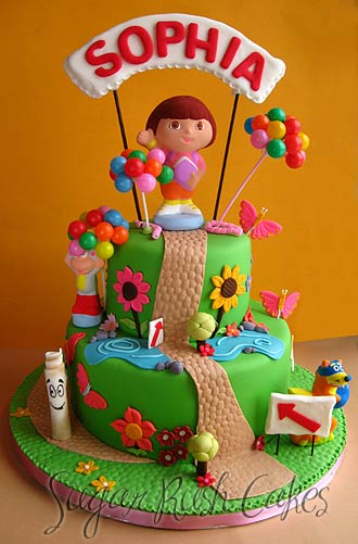 Birthday Cake Images With Cartoon Character : Dora the explorer Sugar Rush Cakes Montreal