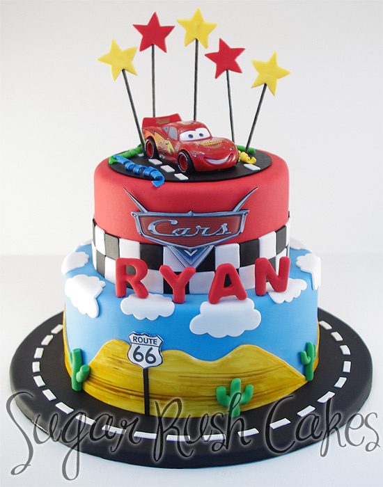 4494b8a246e2 Lighting Mcqueen Cake. Back to Top. Copyright © 2019 Sugar Rush Cakes  Montreal ...