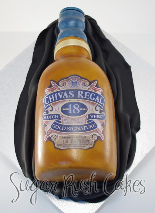 Whisky Bottle Cake Sugar Rush Cakes Montreal