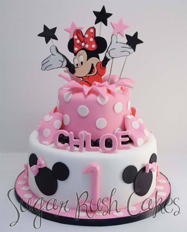 mini_mouse minnie mouse cake on first birthday cakes minnie mouse