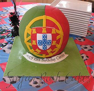 Portugal Soccer Ball Team Sugar Rush Cakes Montreal