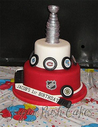 stanley cup cake | Sugar Rush Cakes Montreal