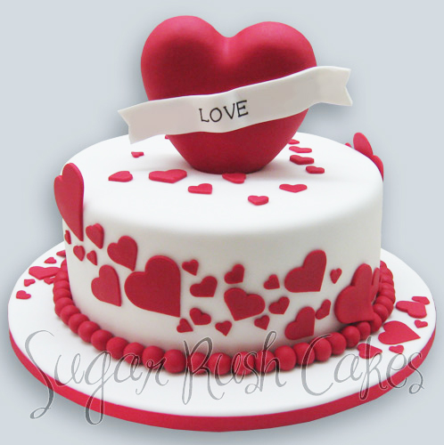 Valentines Day Cake For Eight
