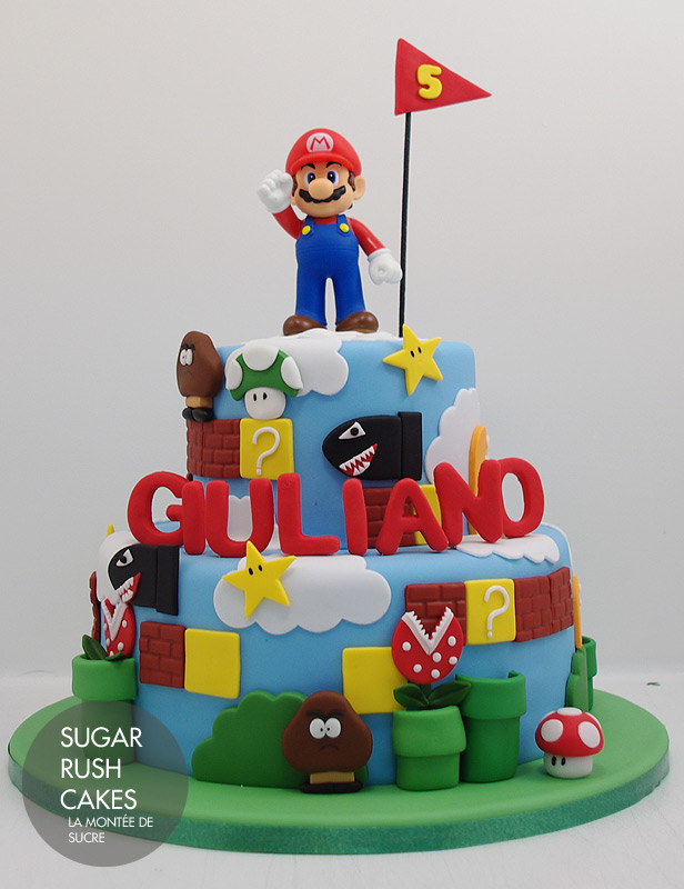 Super Mario Pokemom Birthday Cake