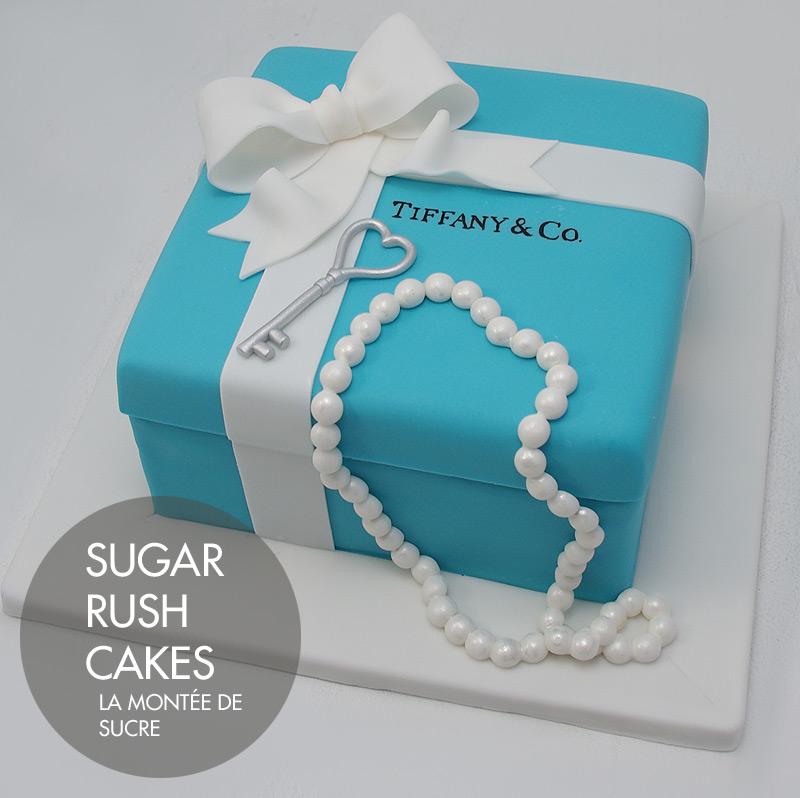 Blue Present Box Cake
