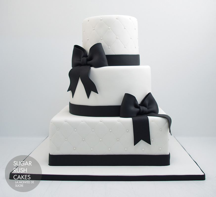 Black And White Square Wedding Cakes
