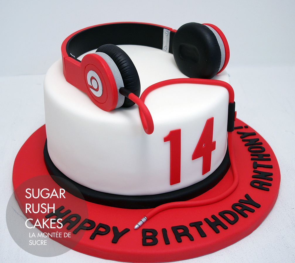 Beats Headphones Cake Sugar Rush Cakes Montreal