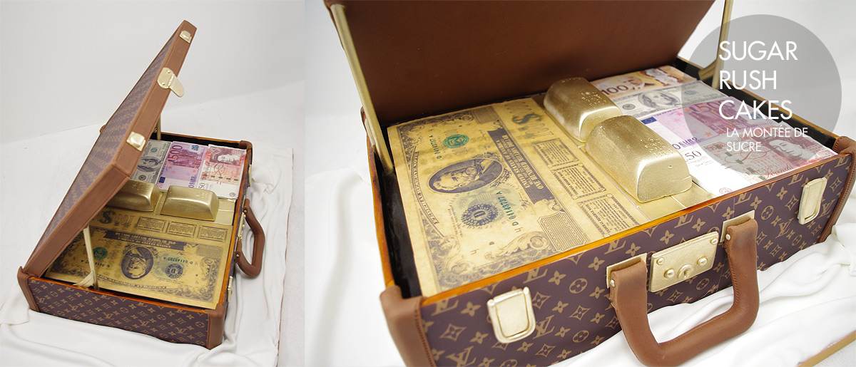 Louis Vuitton Briefcase cake