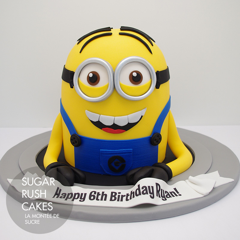 Another Minion cake Sugar Rush Cakes Montreal