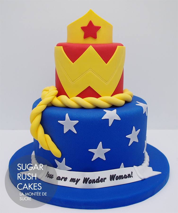 How To Make A Wonder Woman Logo For A Cake