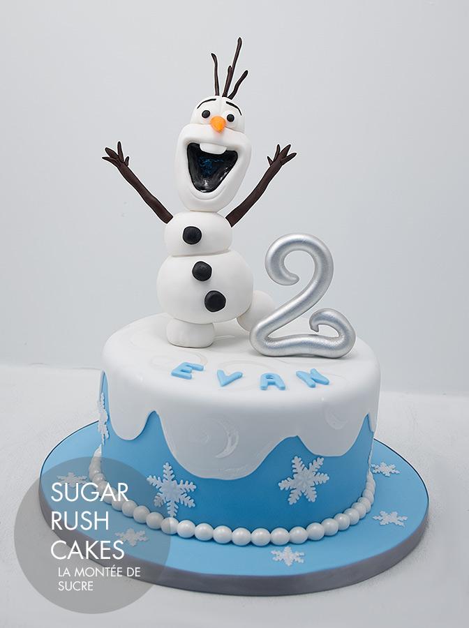 Olaf cakes from disney movie frozen reanimators