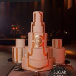 Tripple gold wedding cake