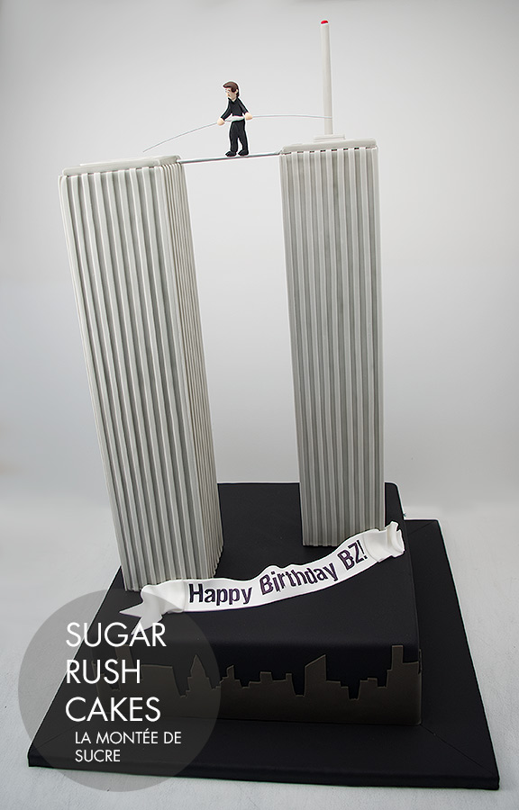 Twin Towers Cake