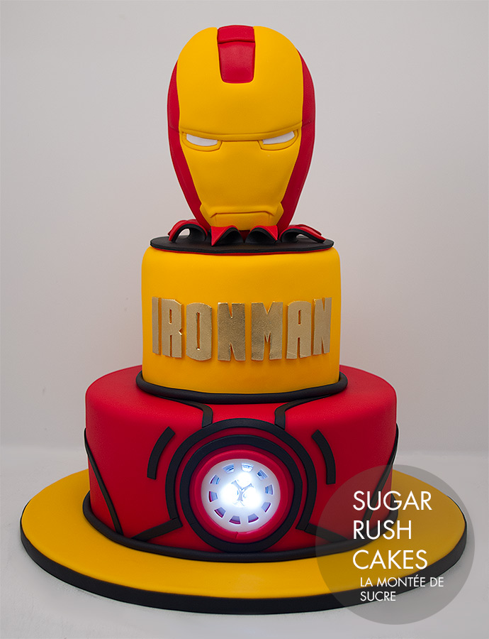 decoration gateau iron man