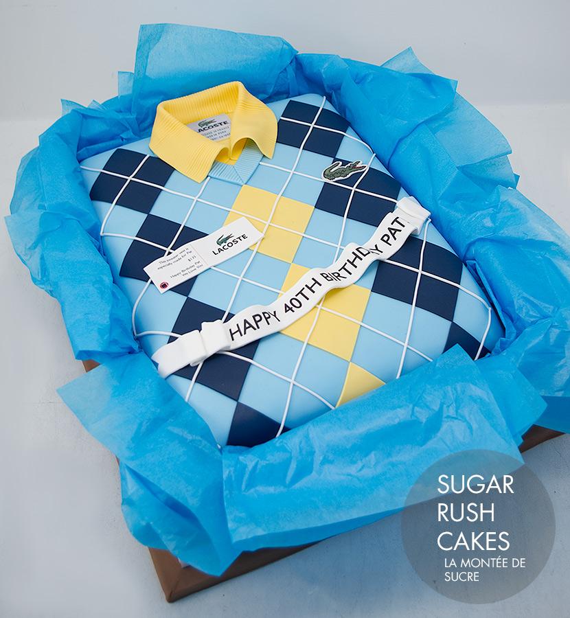 Lacoste sweater vest cake