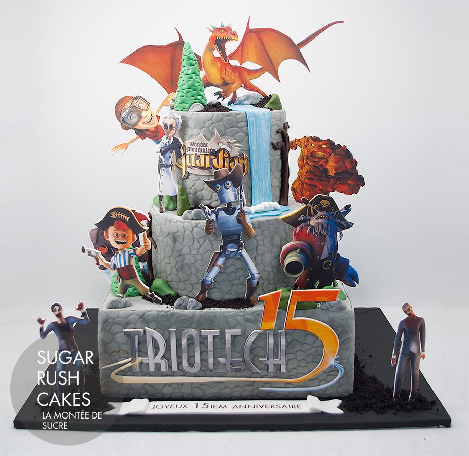Triotech anniversary cake