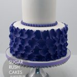 Elegant purple petal cake