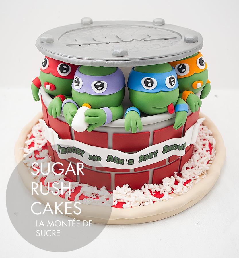Baby Ninja Turtles cake