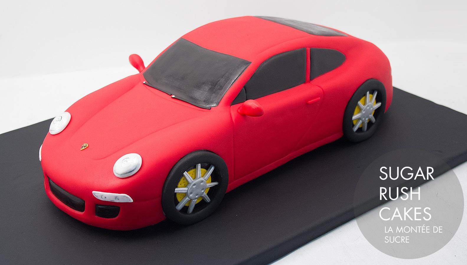 Red Porsche cake