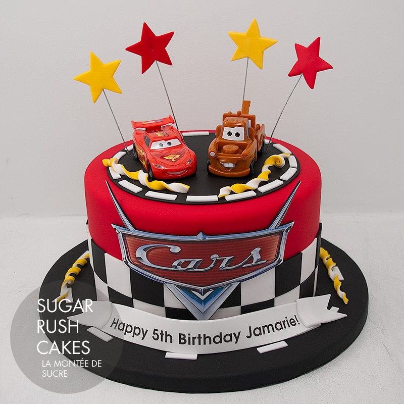 09b99f0ec7bd Cars cake. Back to Top. Copyright © 2019 Sugar Rush Cakes Montreal ...