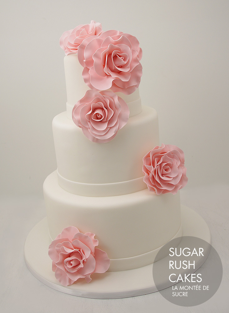 Pink rose wedding
