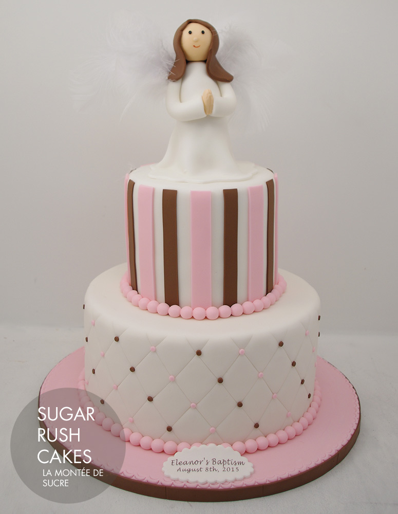 Little angel baptism cake