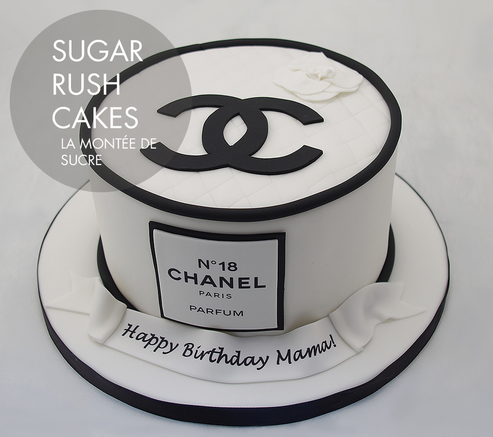 Chanel cake for 8 Sugar Rush Cakes Montreal
