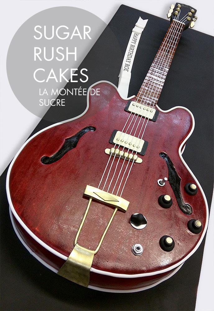 Life size Gibson E-339 cake