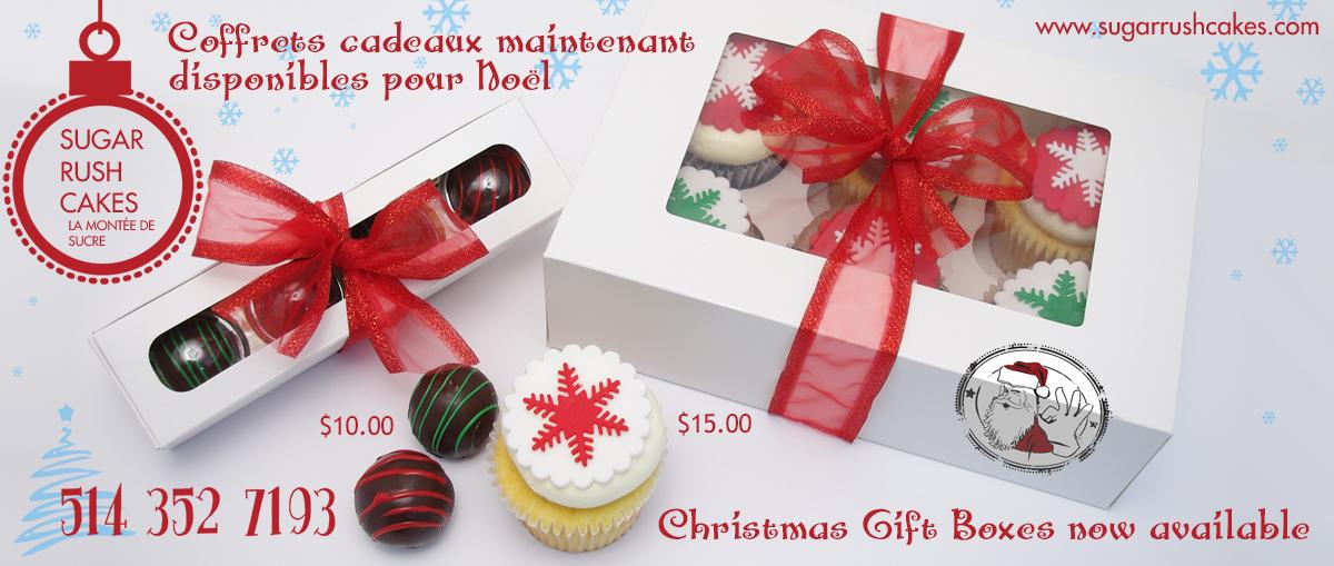 Christmas cupcake gift box