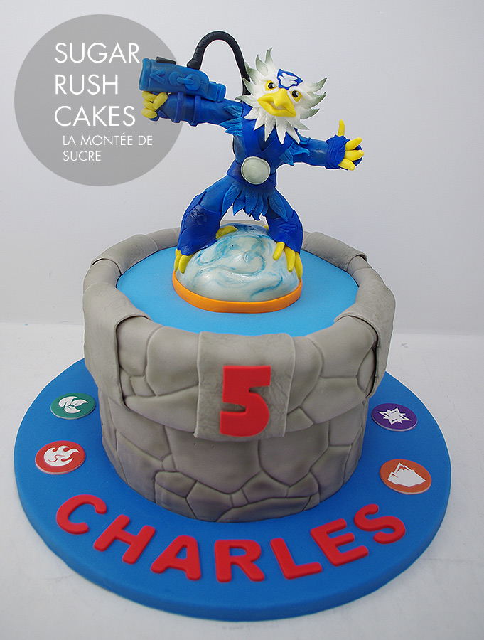 Sky lander cake