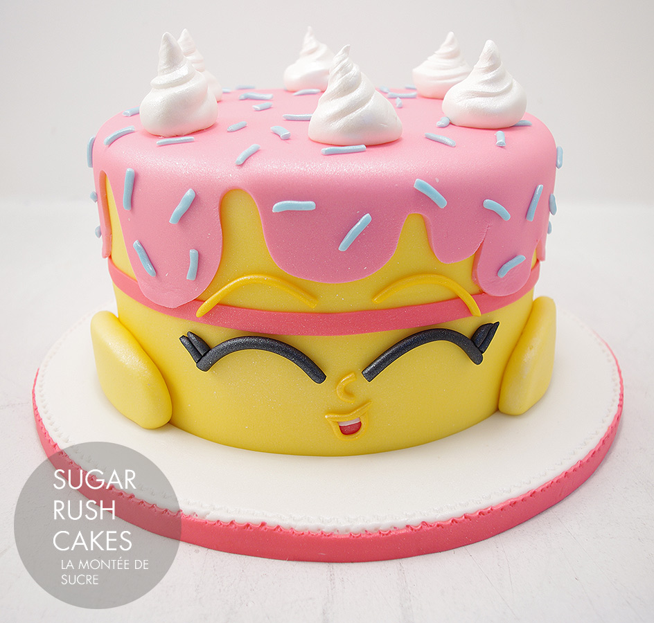 Franais Shopkins Birthday Cake Sugar Rush Cakes Montreal