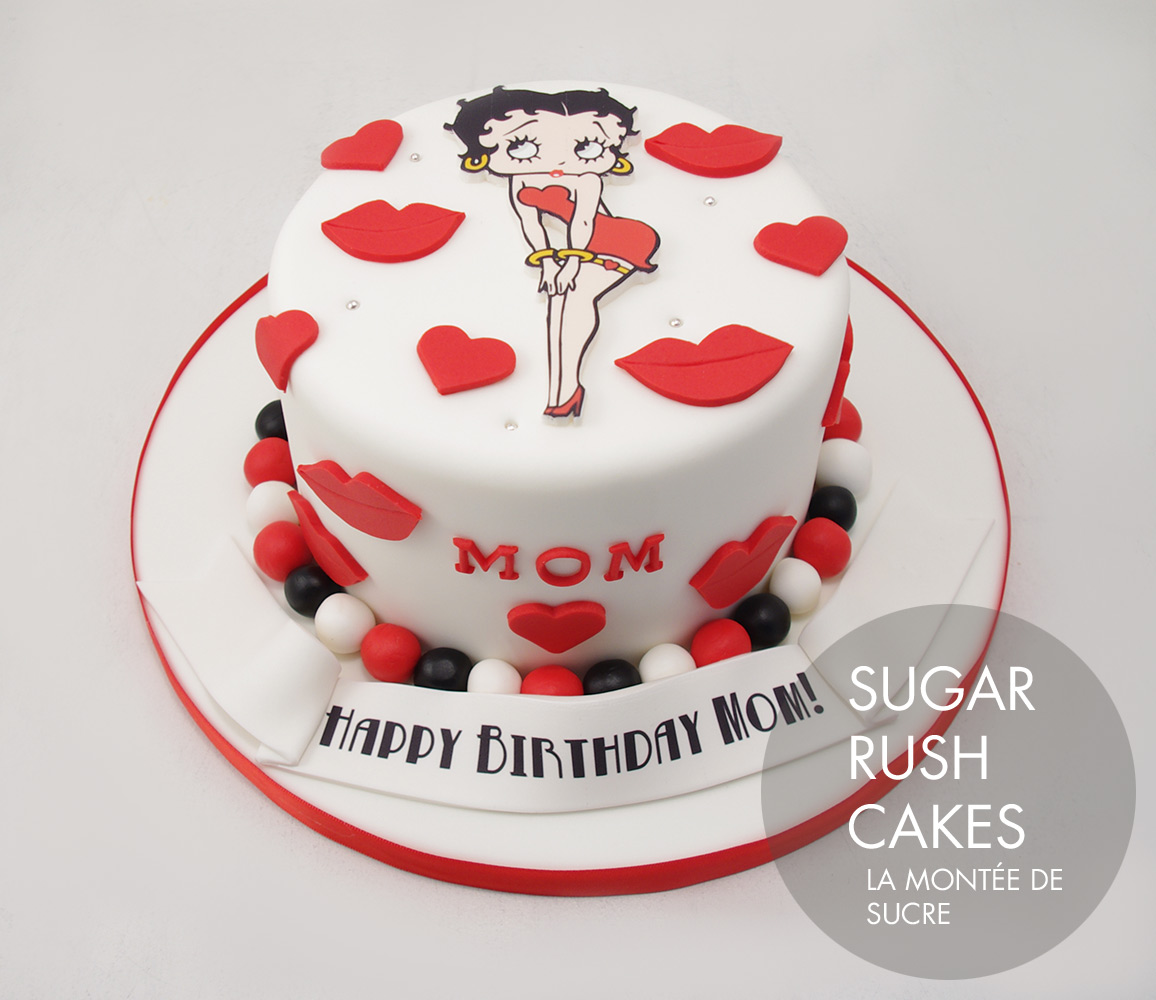 Betty Boop cake for 8