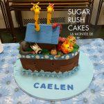 Noah's arc baptism cake
