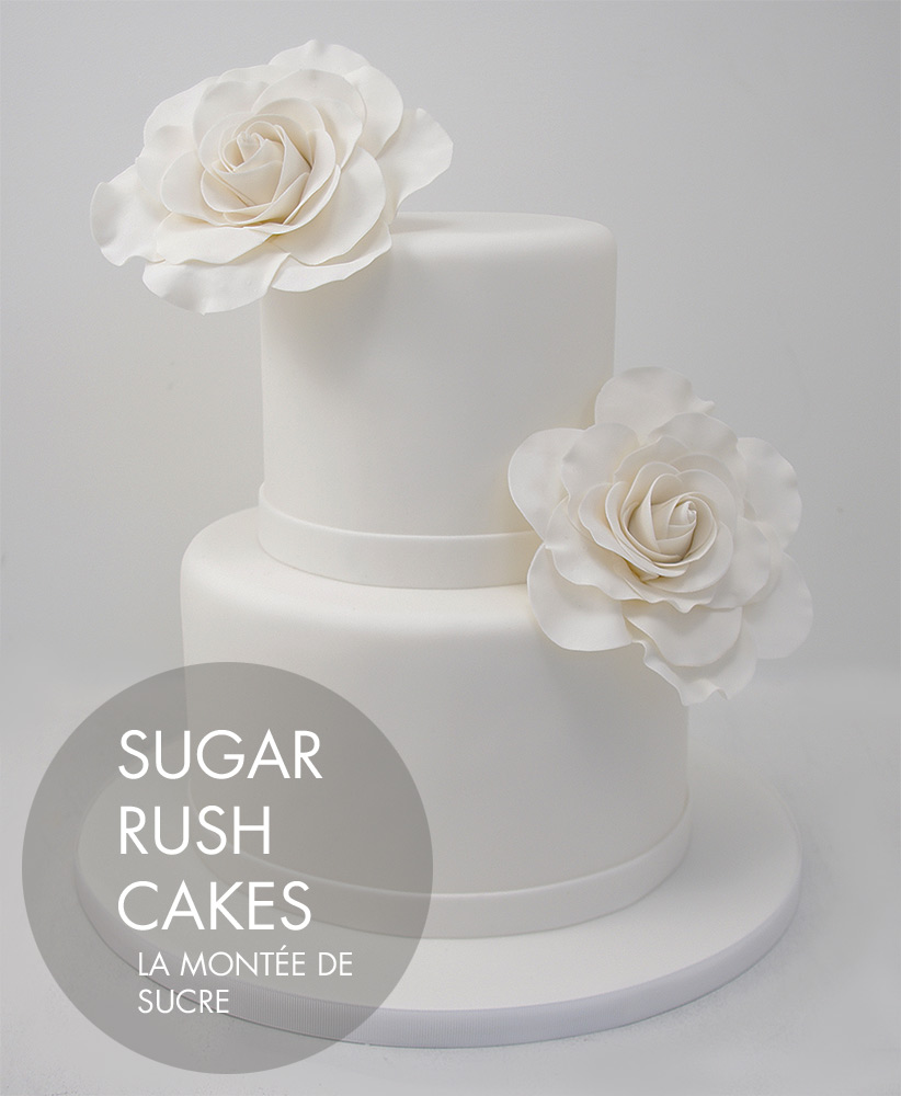 Simple white wedding cake | Sugar Rush Cakes Montreal