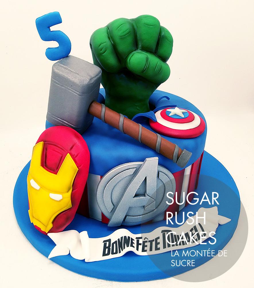 Avengers Birthday cake Sugar Rush Cakes Montreal