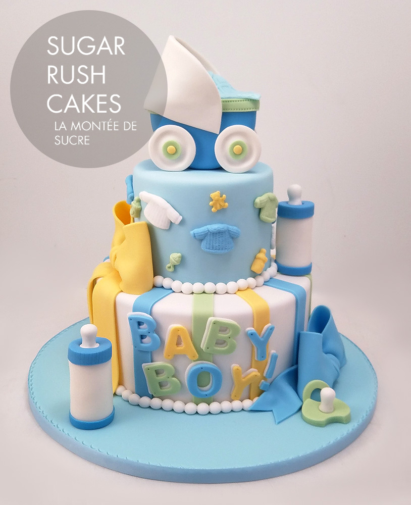 Baby Shower Cake Boy Sugar Rush Cakes Montreal