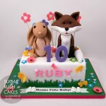 rabbit and fox cake