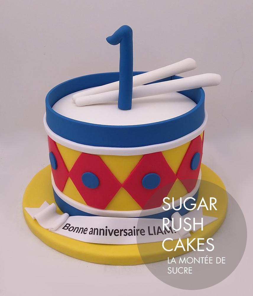 Toy drum cake