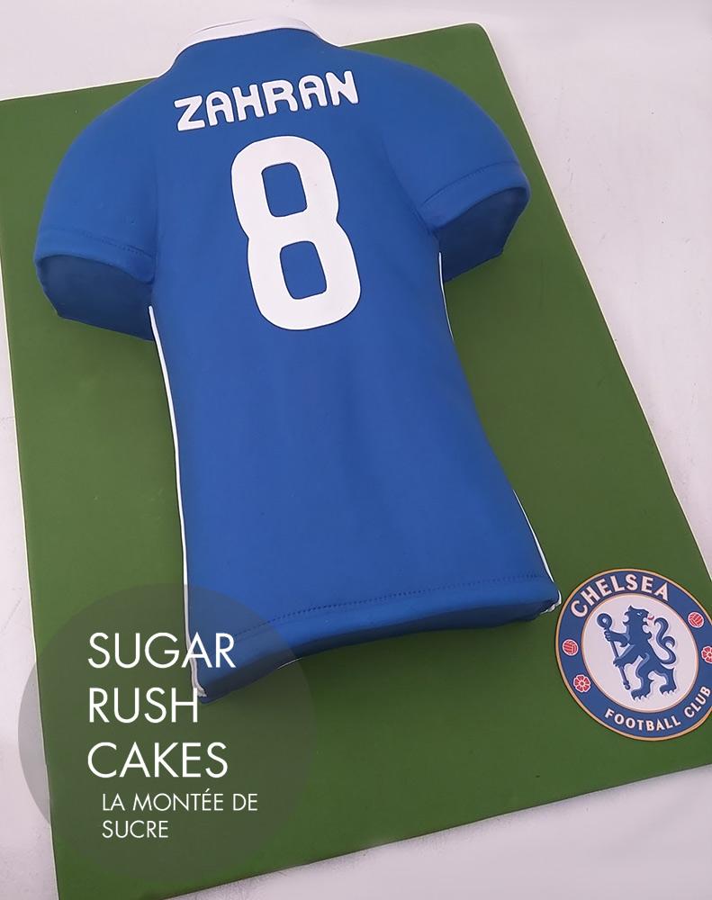 Soccer jersey cake