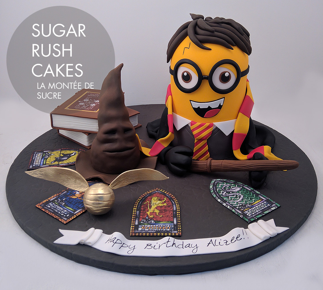 Harry Potter Minion cake Sugar Rush Cakes Montreal