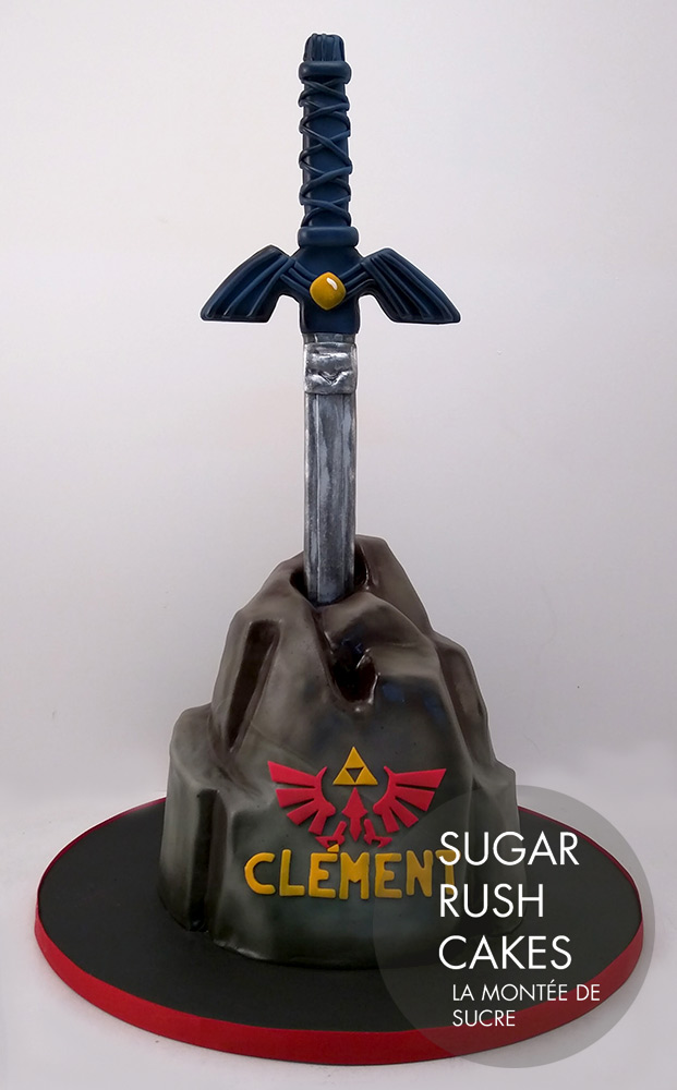 Zelda sword cake
