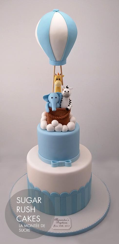 Animal baptism cake