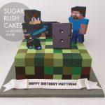 Minecraft custom skin cake