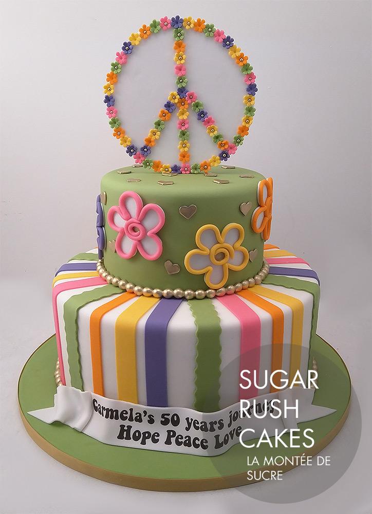 Peace and Love cake