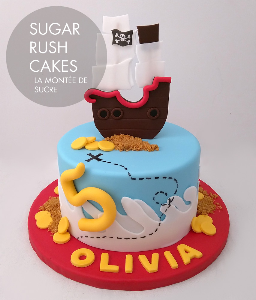cf5895763c90 ... Pirate ship cake ...