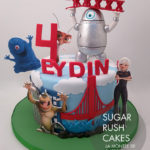 Monsters vs Aliens cake