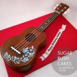 Hawaiian ukulele cake