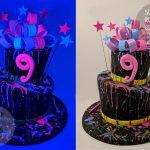 Neon UV Cake