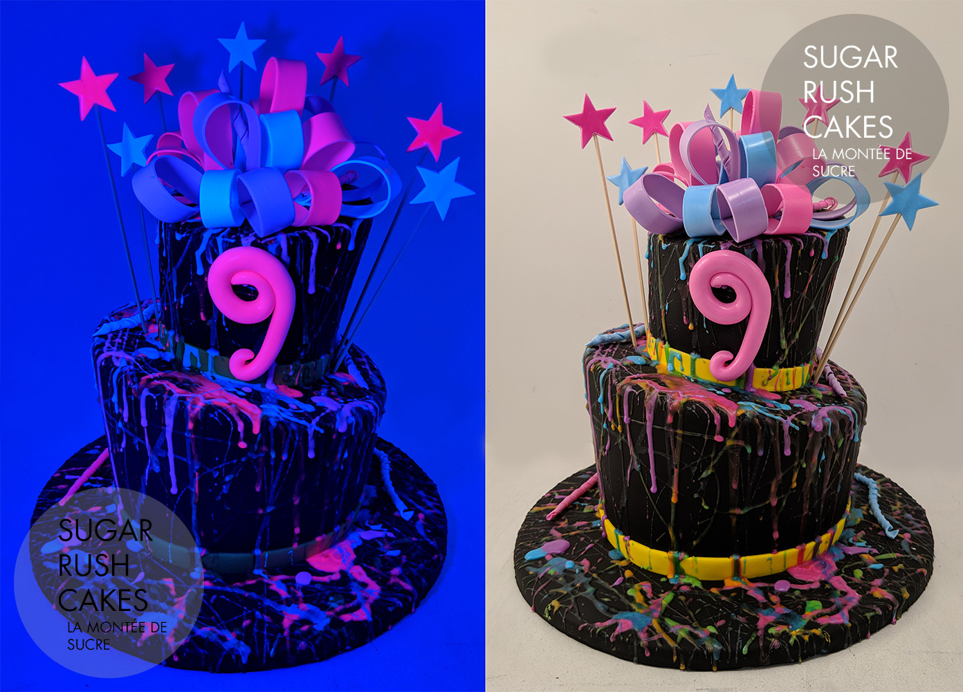 Glow In The Dark Cake Sugar Rush Cakes Montreal