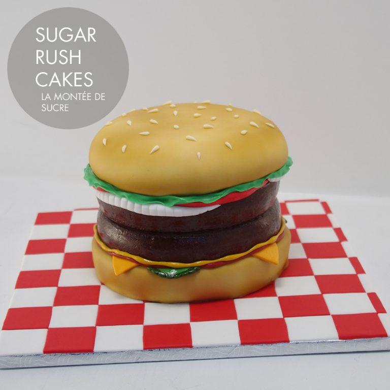 Burger time cake